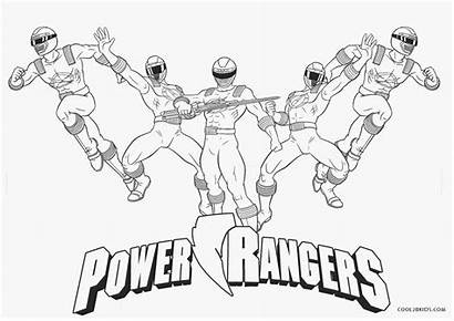 Ranger Coloring Power Pages Printable Dino Charge
