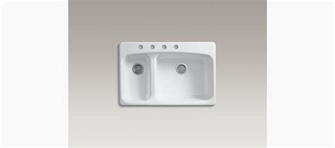 kohler lakefield kitchen sink lakefield top mount kitchen sink with four faucet holes