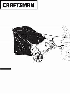 Craftsman Lawn Sweeper 486 24207 User Guide