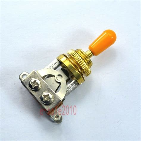 Gold Genuine Short Way Toggle Switch For Gibson Les Paul