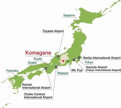 Japan Map Airports Alps Airport Nagoya Tokyo