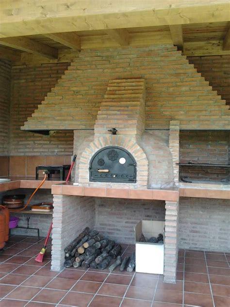 horno de ladrillo visto  cocina exterior barbacoas