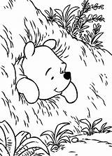 Coloring Pooh Pages Winnie Hole Bear Beer Printable Disney Colouring Adult Sheets Cartoons Getcolorings Cartoon Info Malvorlagen Results Getdrawings sketch template