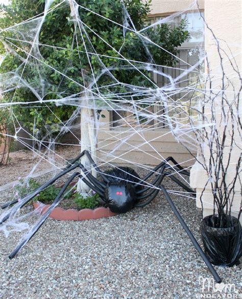 Outdoor Decorations Diy by Diy Decorations Spooky Spider Web And A