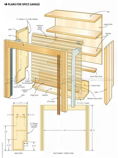 wooden spice rack plans woodarchivist