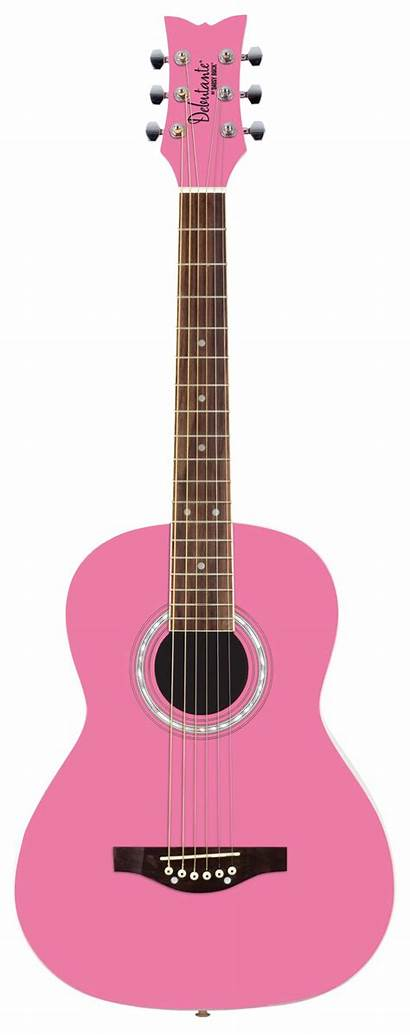 Guitar Acoustic Clipart Pink Colorful Rock Daisy
