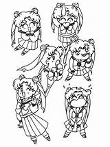 Sailor Moon Coloring Pages Sailormoon Printable Sheets Cute Colouring Abfc Usagis Moons Colour Manga Picgifs Tattoo Series Books sketch template