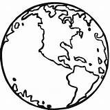 Earth Coloring Printable sketch template