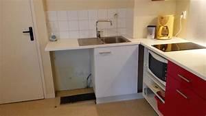 remplacement dun meuble de cuisine creatherm plomberie With installer plan de travail cuisine