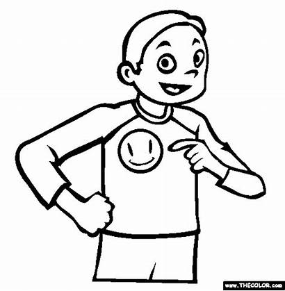 Smile Coloring Button Pages Thecolor 44kb 564px