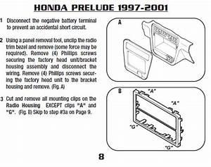2001 Honda Prelude Installation Parts  Harness  Wires