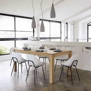 chaise guariche en fibre de verre et m tal maisons du monde maison inspiration nordique