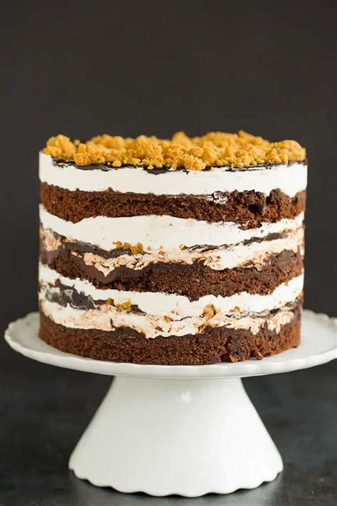 smores layer cake milk bar style brown eyed baker