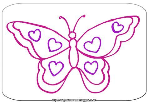 Mewarnai Gambar Kupu-kupu Sederhana