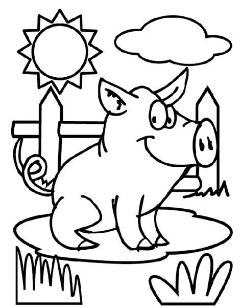 Pig Coloring Page crayola com