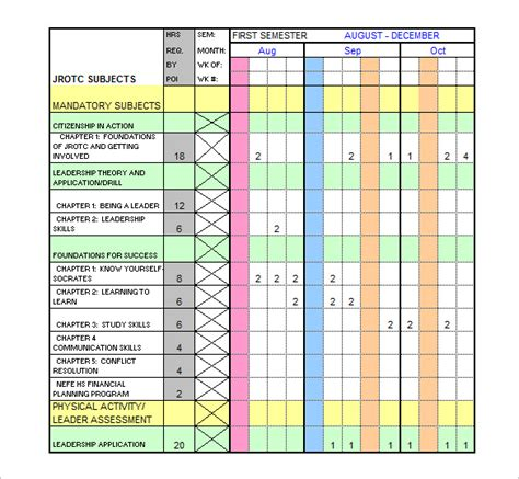 training plan template excel  planner template