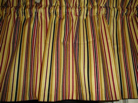 Striped Valances by Burgundy Brown Black Stripe Striped Bedroom Kitchen