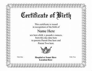 birth certificate template 44 free word pdf psd With free pet birth certificate template