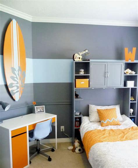 interior trendy gray small bedroom theme design