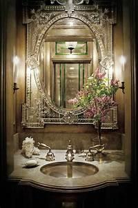 powder room mirror 28 Powder Room Ideas - Decoholic