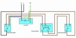 Wie Funktioniert Ein Bewegungsmelder : kreuzschalter anschlie en anleitung ratgeber elektro ~ Frokenaadalensverden.com Haus und Dekorationen