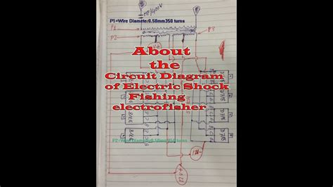 here show about circuit diagram of electric shock fishing electrofisher components