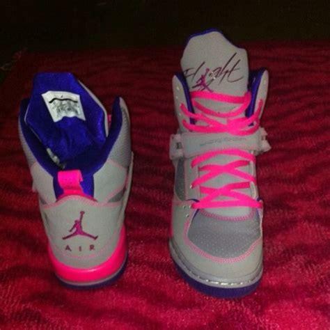 Girls' Jordan Grade School Flight 45 High Basketball Shoes