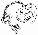 Coloring Pages Heart Drawings Drawing Boyfriend Colouring Skull Easy Template Keyhole Key Lock Couple Valentines Printable Valentine Hearts Sheet Shaped sketch template