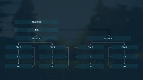 dark background organizational chart template