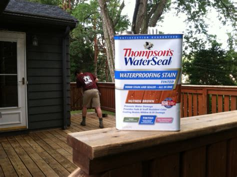thompsons deck wash how to stain a deck with thompson s waterseal a concord