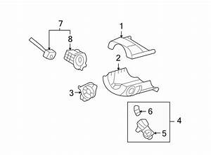 Lincoln Zephyr Column Flange  Housing  Lock Assembly  To 1