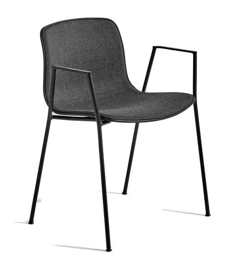 hay chaise chaise aac08 de hay piétement en aluminium teinté noir remix
