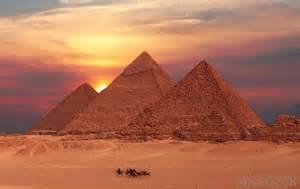 Beautiful Sunset Egypt Pyramid