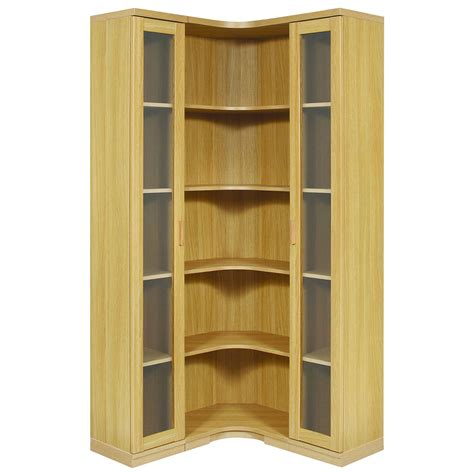 home storage cabinets with doors l shaped natural polished particle wood corner cabinet