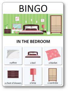 house  furniture bingo cards  printable house