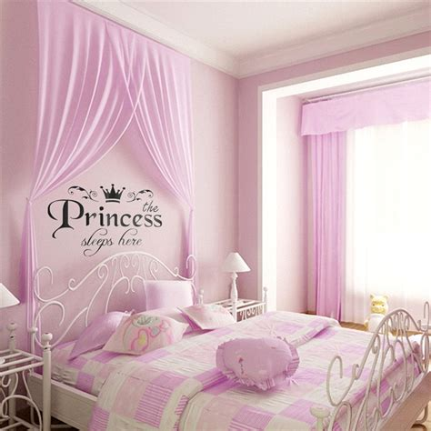 New Arrival Diy Removable Princess Sleeps Wall Stickers