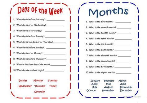 days  months  images spanish language learning