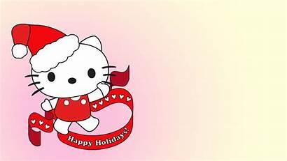 Hello Kitty Happy Holidays Christmas Wallpapers Cartoons