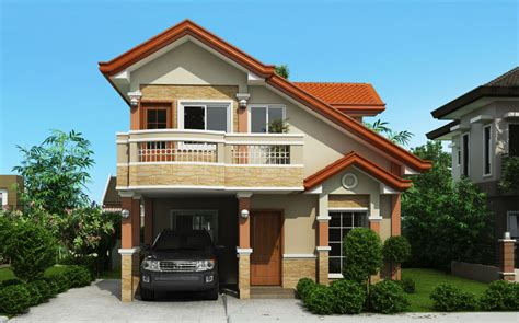 storey house plan  balcony home design