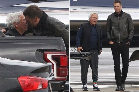 tom brady spotted consoling patriots owner robert kraft