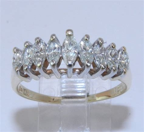 14k yellow gold genuine marquise diamond 100 ct by