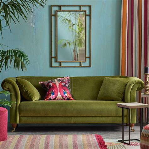 Green Sofa by Velvet Sofas Our Of Best Ideal Home