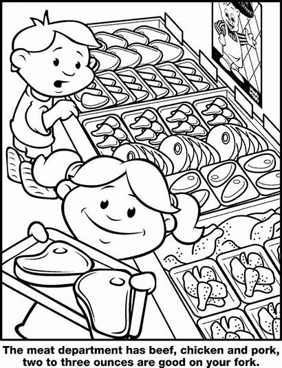 Department Meat Wiggly Piggly Coloring Pigglywiggly