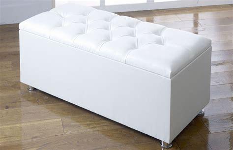 Ottoman Storage White by New Ottoman Storage Blanket Box In Faux Leather