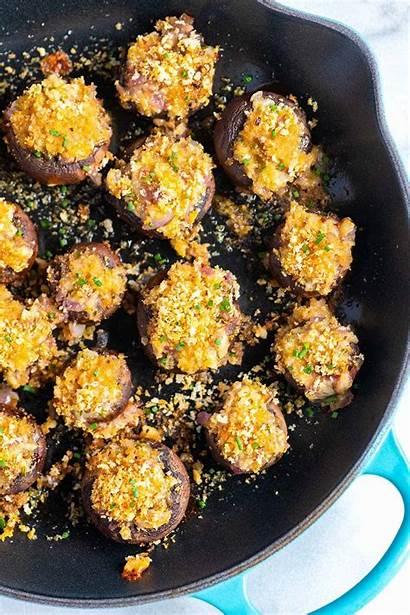 Mushrooms Stuffed Easy Cheese Recipe Recipes Whole
