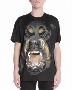 Givenchy Snarling Rottweiler Dog Jersey Tee, Black ...