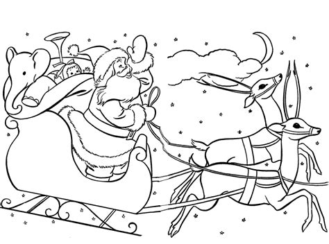 Santa Sleigh Coloring Pages