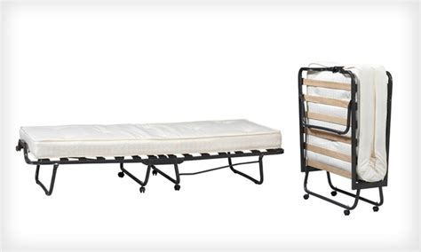 folding bed with memory foam groupon goods