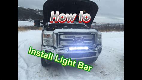 light bar installation  wiring  detail  ford