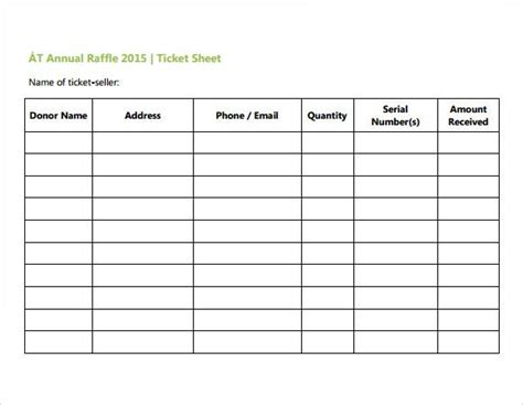 event ticket sales spreadsheet template business